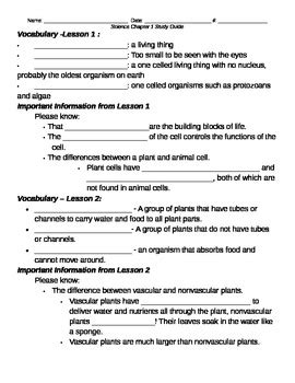 harcourt science grade 6 worksheets quot classifying living things quot chapter 1 study guide harcourt