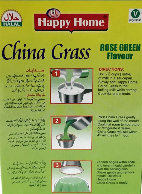happy home products happy home china grass green rose flavor pudding mix
