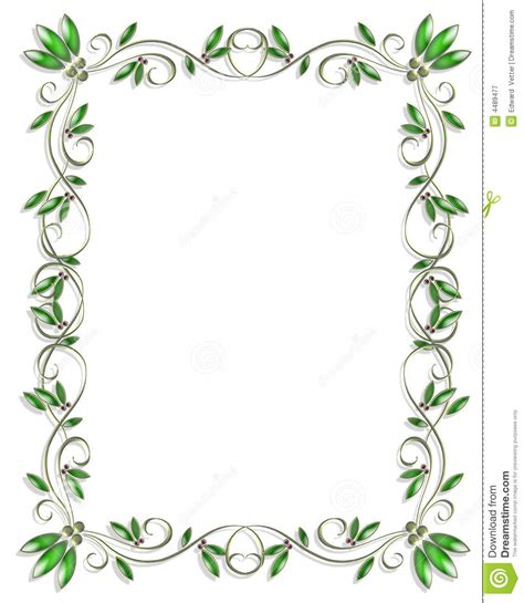 border design element green 3 stock illustration image