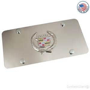 Cadillac Vanity Plates Cadillac Chrome Logo On Polished Steel License Plate
