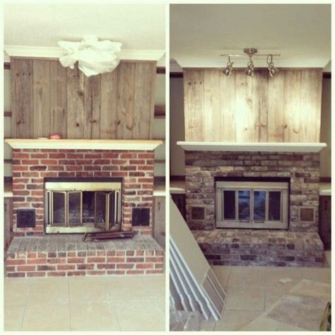 How To Refinish A Fireplace by Before And After Fireplace Upgrade With Paint Refinished
