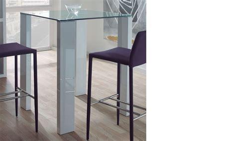 table haute verre table haute design verre et laqu 233 blanc berta