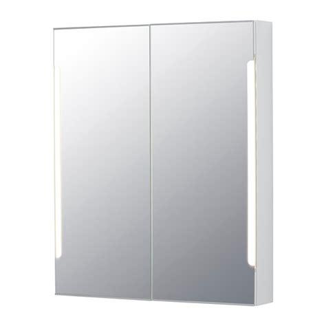 ikea bathroom mirror storjorm mirror cabinet w 2 doors light 31 1 2x5 1
