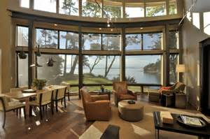 House Plans With Window Walls by Fantastic Bayfront House Overlooking Sunset Bay Modern