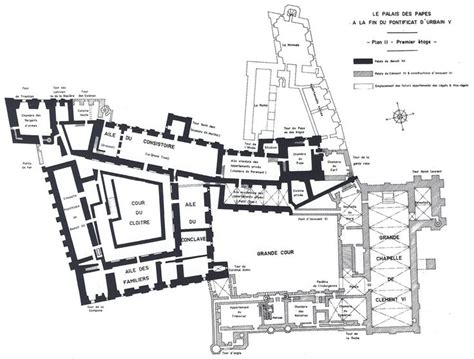 apostolic palace floor plan first floor plan palais des papes avignon france the