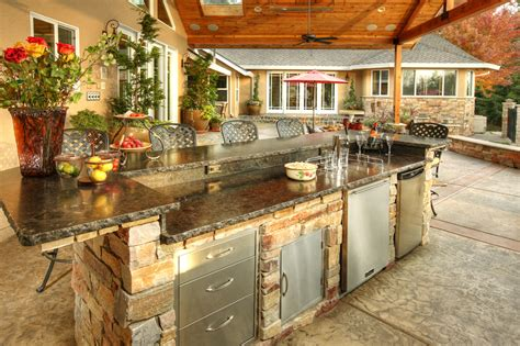 outdoor island kitchen outdoor kitchen idea gallery galaxy outdoor
