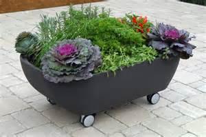 Small Garden Tub Mobile Bathtub Like Planter To Organize A Mobile Garden