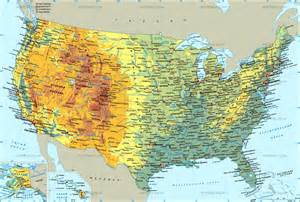Physical Map Of Usa by Usa Map Physical Images Frompo 1