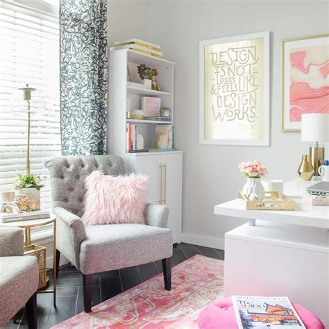 feminine home decor functional fabulous office it s done feminine style