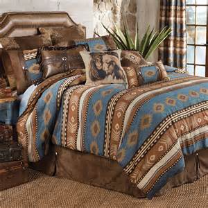 western bedding king size bed set lone