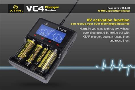 best 26650 charger original xtar vc4 micro usb digital battery charger the