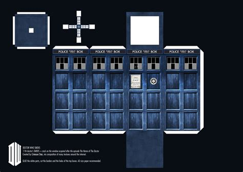 Papercraft Tardis - 11th doctor s tardis paper craft by sidhenidon on deviantart