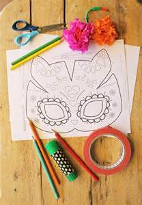 Day Of The Dead Template by Cat Mask Template For Dia De Los Muertos Day Of The Dead