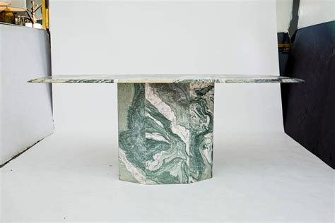 Marble Base Dining Table Verde Luana Marble Top And Base Dining Table At 1stdibs