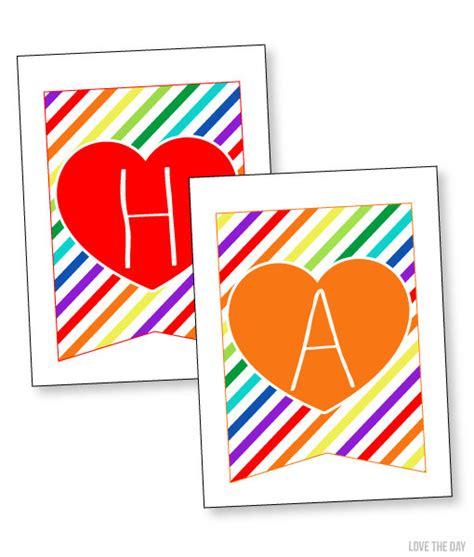 printable rainbow birthday banner items similar to rainbow party printable happy birthday
