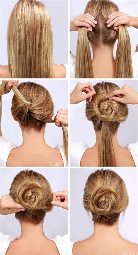 updo hairstyles at home image tutorials for different and easy hairstyles how to