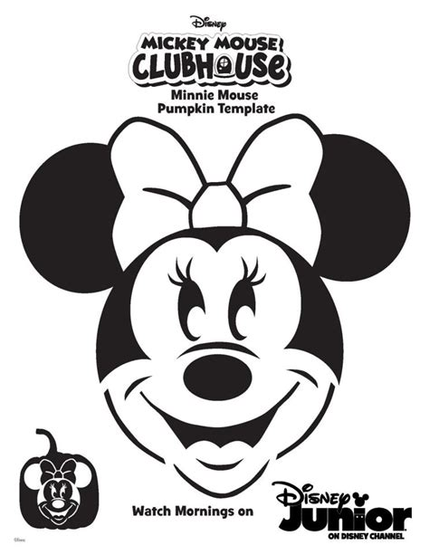 free printable pumpkin stencils mickey mouse minnie mouse pumpkin template falling leaves pinterest