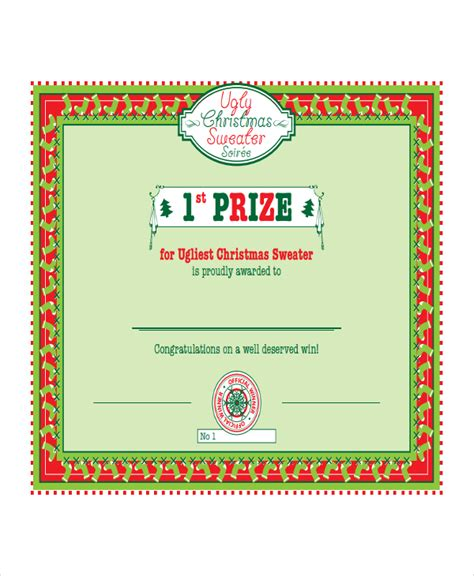 first prize certificate template winner certificate template 9 free pdf document
