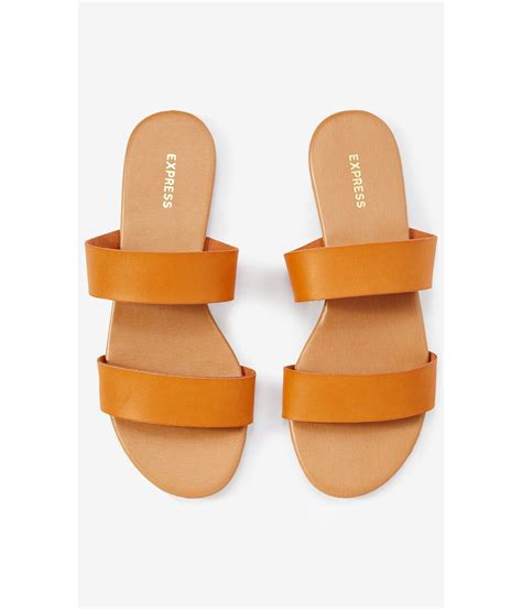 Two Slide Sandals Brown by Lyst Express Two Slide Sandals In Brown