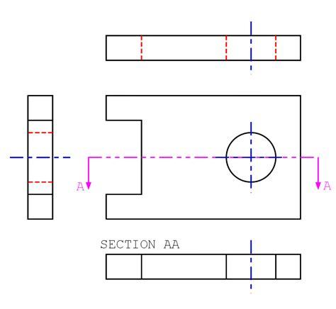 section plane engineering drawing بحث عن الرسم الهندسي