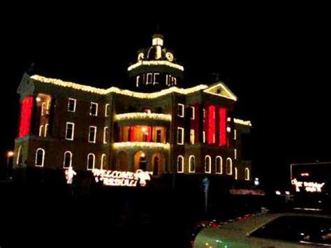 marshall texas synchronized christmas lights display