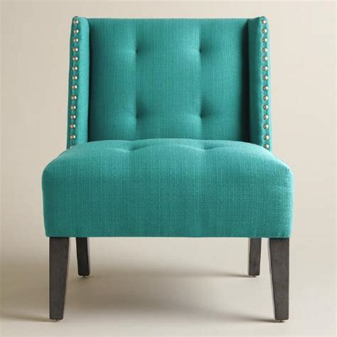 Peacock Blue Chair Peacock Blue Carlin Wingback Chair World Market