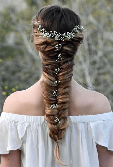 Wedding Hairstyles Side Pony With Braid by Fishtail Ponytail Braid Wedding Hairstyles Photos