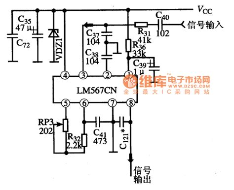 simple diagram of integrated circuit typical applied circuit diagram of lm567cn integrated circuit filter circuit basic circuit