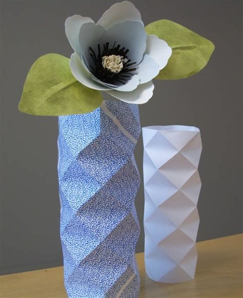 How To Make A Paper Vase - a most paper collection