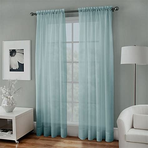 aqua window curtains buy crushed voile sheer 108 inch window curtain panel in