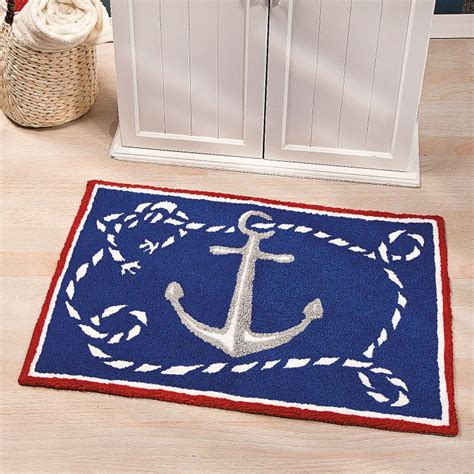 nautical themed rugs nautical hooked rug trading discontinued nautical classroom theme