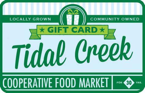Tidal Gift Card - tidal creek gift card various amounts tidal creek coop