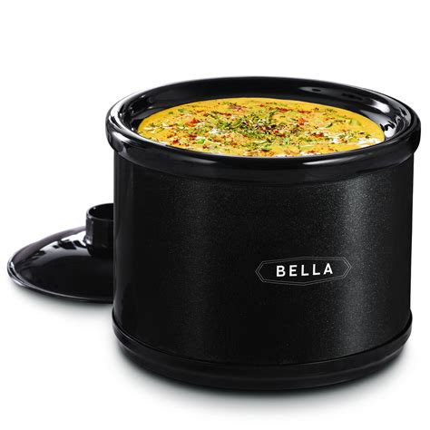 bella kitchen appliances bella 65qt dip warmer metallic black appliances