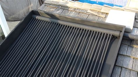 diy rooftop solar diy solar pool heater part 1 roof