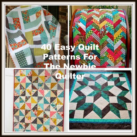 Easy Quilt Ideas by 40 Easy Quilt Patterns For The Newbie Quilter