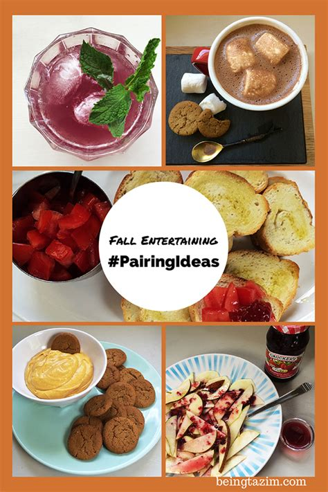 fall entertaining menu fall entertaining pairingideas being tazim