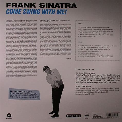 frank sinatra come swing with me frank sinatra come swing with me vinyl at juno records