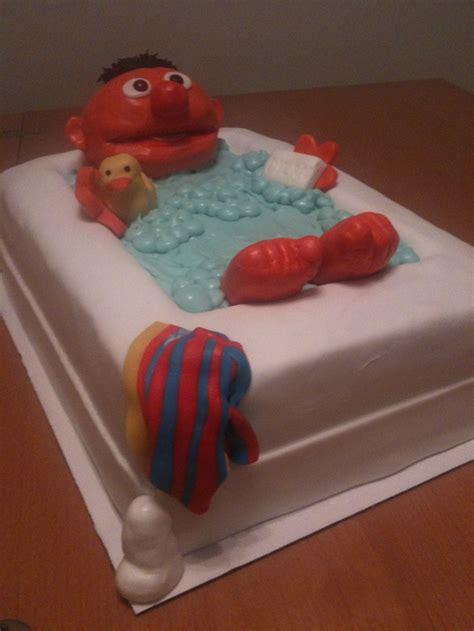 ernie bathtub ernie in the tub cake my cakes pinterest