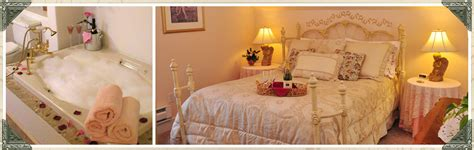 bed and breakfast port townsend angel room has queen bed and whirlpool bath tub