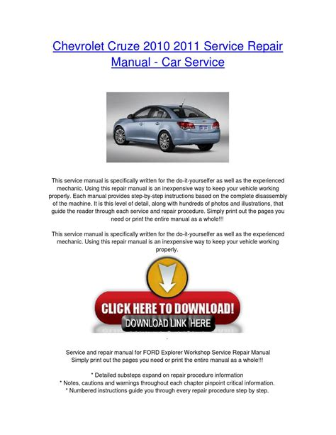 what is the best auto repair manual 2010 ford f250 lane departure warning chevrolet cruze 2010 2011 service repair manual car service by nissancarrepair issuu