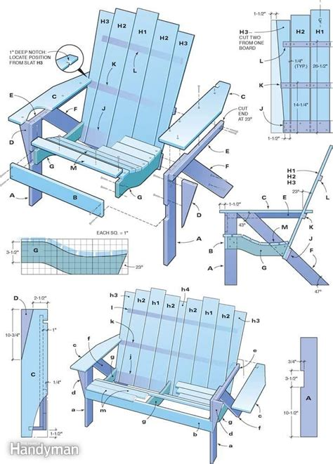 how to build an adirondack chair handyman adirondack chair woodworking projects plans