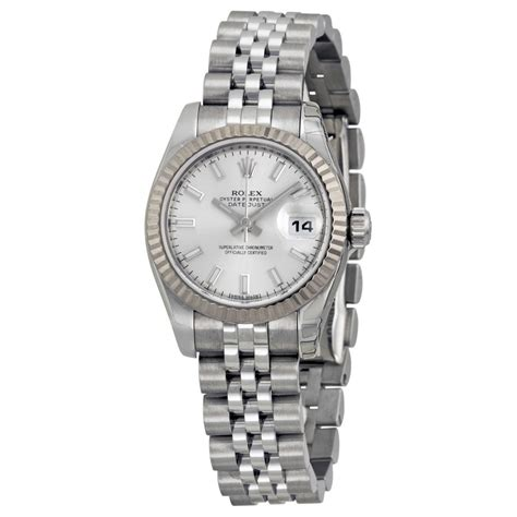 Rolex Automatic Silver rolex datejust 26 silver stainless steel rolex