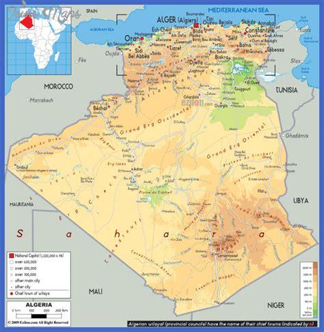 algeria map with cities algeria map toursmaps
