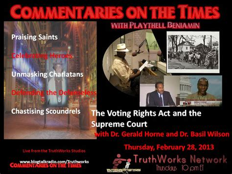 the voting rights act and the supreme court l