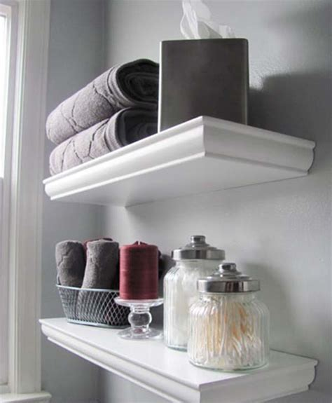 White Bathroom Shelves Helpful Tips For Bathroom Shelves