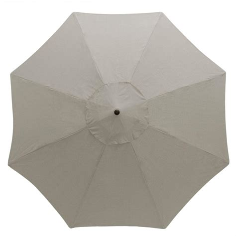 Gray Patio Umbrella Hton Bay 11 Ft Aluminum Patio Umbrella In Gray 9111 01407200 The Home Depot