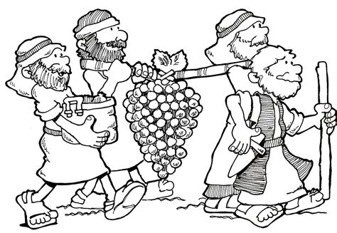 Coloring Page 12 Spies by 12 Spies Coloring Sheet Moses To Leaders From