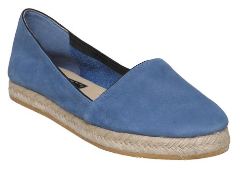 flat shoes for uk new bertie lister womens blue leather espadrille