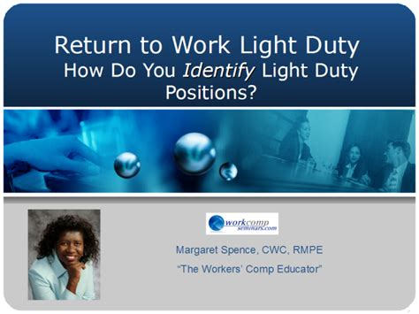 workers comp light duty workers compensation how do you identify light duty