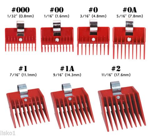 guard on clippers cut height speed o guide clipper comb attachment 00 1 16 quot andis oster